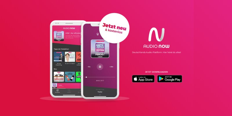 "Unsere Podcasts bei ""Audio Now"""
